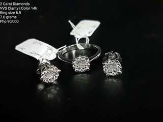 2carat diamond set
