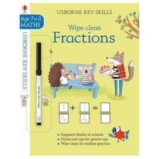 (Brand New) Wipe-Clean Fractions (7-8 Key Skills)    By: Holly Bathie, Elisa Paganelli (Illustrator) Paperback