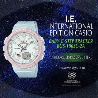 CAISO INTERNATIONAL EDITION BABY G STEP TRACKER PEDOMETER BCS100SC-1A/ BSC100SC-2A/ BSC100SC-4A/ BCS100SC-7A