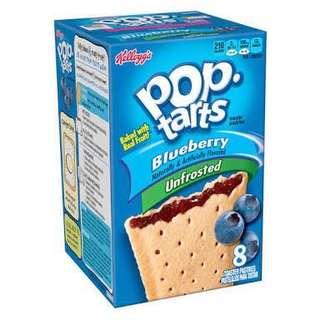 Pop-tarts Blueberry Unfrosted 8pcs