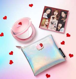 Etude House Red Velvet Mirror and Pouch Set