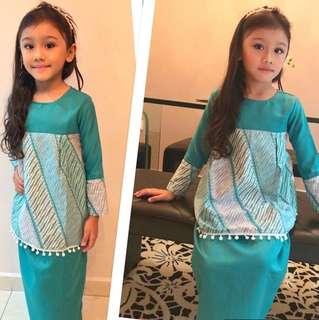 Tyara Doll Kurung | Turquoise