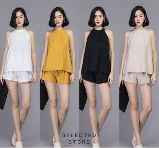 Set of Sleeveless Top with Shorts