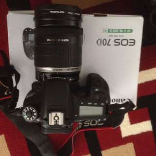 Canon eos 70D lensa kit 16-50mm