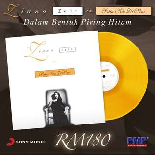 ZIANA ZAIN Setia Ku Di Sini Orange Vinyl LP Limited Stock