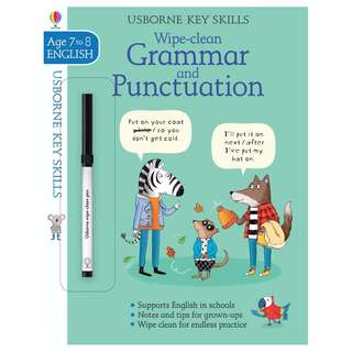 (Brand New) Wipe-Clean Grammar and Punctuation  (7-8 Key Skills)    By: Hannah Watson, Elisa Paganelli (Illustrator) Paperback