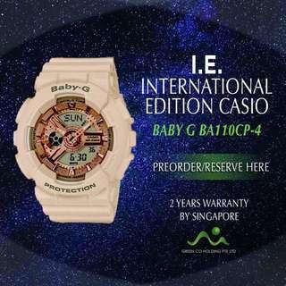 CASIO INTERNATIONAL EDITION BABY G BA110CP-4