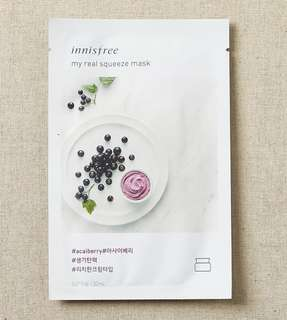 Innisfree My real squeeze mask - açai berry