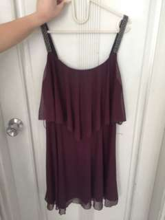 Dress Maroon New Look