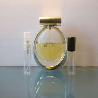 Calvin Klein Beauty 5mL EDP Sample Travel Spray Atomizer or Roll-On Rollerball Vial