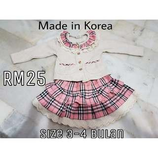 Baby girl dress (korea uniform style)