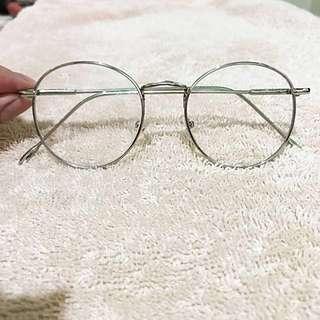 Kacamata Vintage Bulat Silver