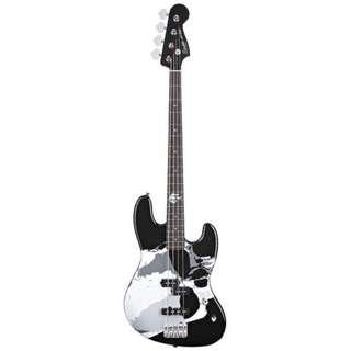 Squier Frank Bello Signature Jazz Bass Guitar, Rosewood FB, Black