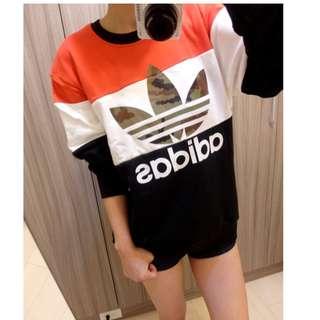 🚚 Adidas Originals 愛迪達 黑白紅 迷彩logo 彩色 大學t 長袖 棉T