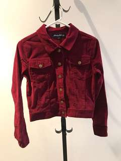 Princess Highway size 6 cherry Charlie girl corduroy jacket