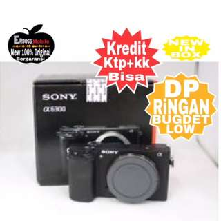 Kredit LOw Dp 1jt Sony Alpha A6300 Body only Ditoko promo ktp+kk Wa;081905288895