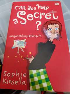 NOVEL CHICLIT can you keep a secret by sophie kinsella