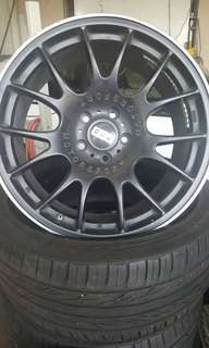 18 inches Sport Rim and Kuhmo 4 wheel tires