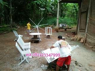 Meja payung putih, meja tenda putih, meja payung duco,