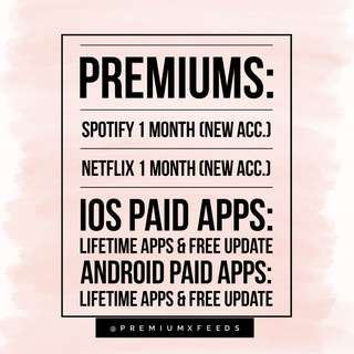 SELLING PREMIUMS & PAID APPS