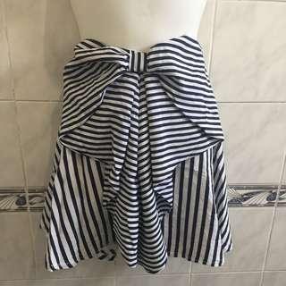 Striped Fancy Flare Skirt