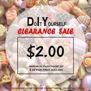 DIY Craft Clearance Sale