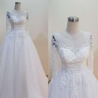 Instock - long sleeve A line wedding dress