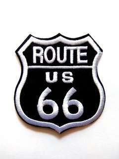 Route 66 Highway USA Iron On Patch