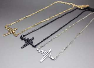 Necklace cardiograph simple style funk