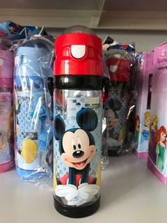 Mickey Mouse Straw water bottle 600ml. BPA-free.