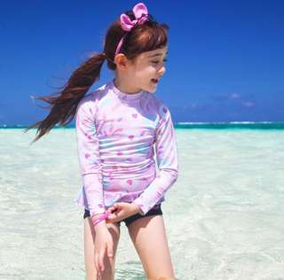 Korean Girls's Swimwear - Rash guard