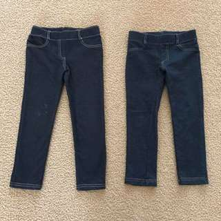 2 pairs Size 4 vgc Target Pull on jeggings