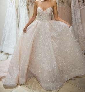 可訂造其他色閃亮婚紗晚裝