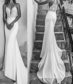 歐式拖尾婚紗