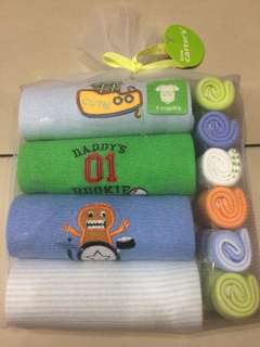 Gift set rompers + handkerchief