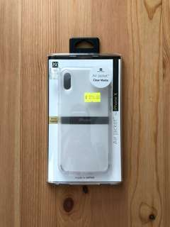 99.99% new Power support 日本製 iPhone X Air Jacket磨砂透明套