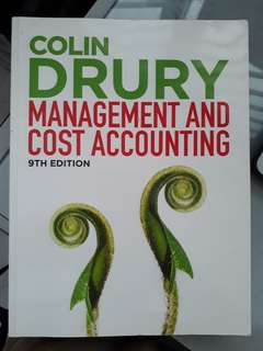 Colin Dury management accounting 9th ed