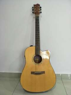 Australia Coleman Electric Acoustic Guitar with bag and new strings