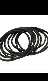 (Pre-order) 15 pcs Black hair ties for girls/ladies