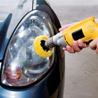 Headlamp polishing @car service