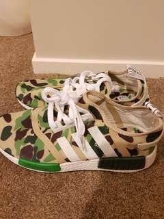 Adidas bath ape Camouflage running shoes