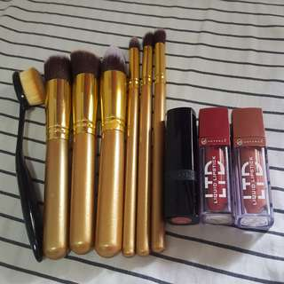 GET ALL! Makeup Brushes &Lippies