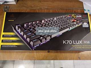 Corsair K70 LUX RGB Mechanical Gaming Keyboard - Cherry MX Brown
