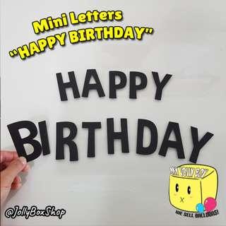 Mini Paper Letterings - Happy Birthday