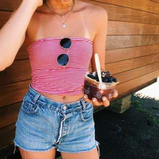 🚚 Brandy Melville Striped Tube Top