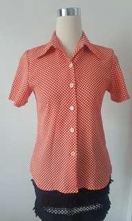 vintage polkadot shirts