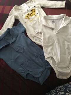 H&M Cotton Polo Onesies 4-6 months
