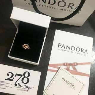 PANDORA 2 in 1 Ring Rosegold