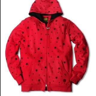 🚚 stage 星星 紅黑 外套