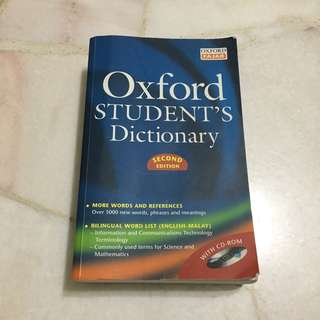 Oxford Student's Dictionary Book